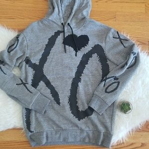 HM x The Weekend Collaboration Gray XO Hoodie